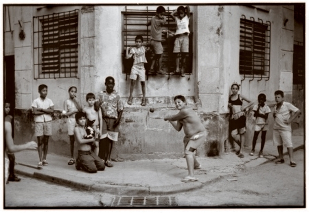 Walter Iooss' iconic image of stickball in Havana.