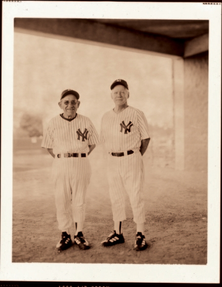 Walter Iooss' photograph of Yogi Berra and Whitey Ford as little old guys.