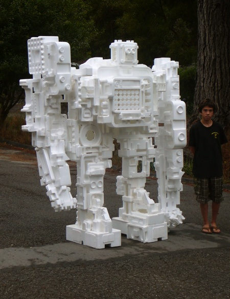 Styrofoam robot is impervious to biodegradation.