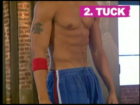 Fig 1:  Shirtless pelvic tuck, male.  Rating:  NO.