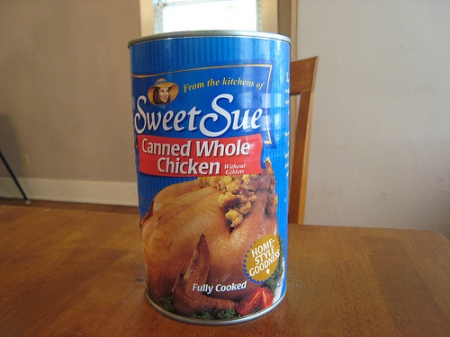 canned whole chicken