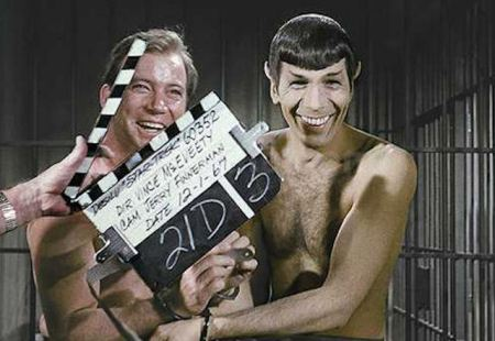 Moments later, Shatner dropped the soap
