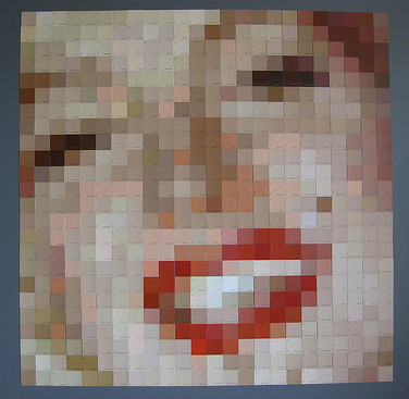 paint chip art marilyn