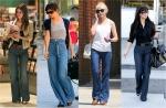 Wide leg jeans trend